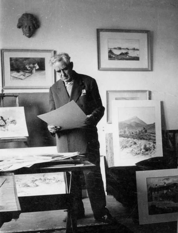 В дома на художника, 1959 г.