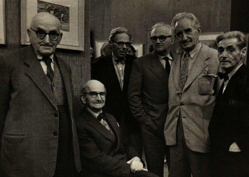 С Алекснадър Божинов, Янко Валов, Чудомир и В.Стефев