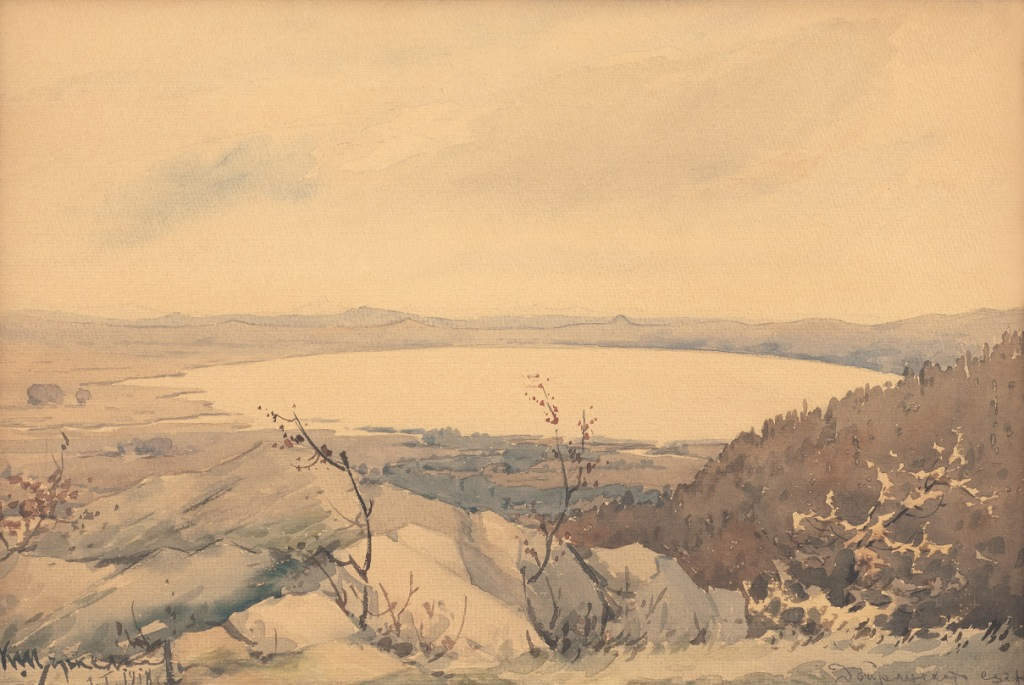 Doyran lake watercolour