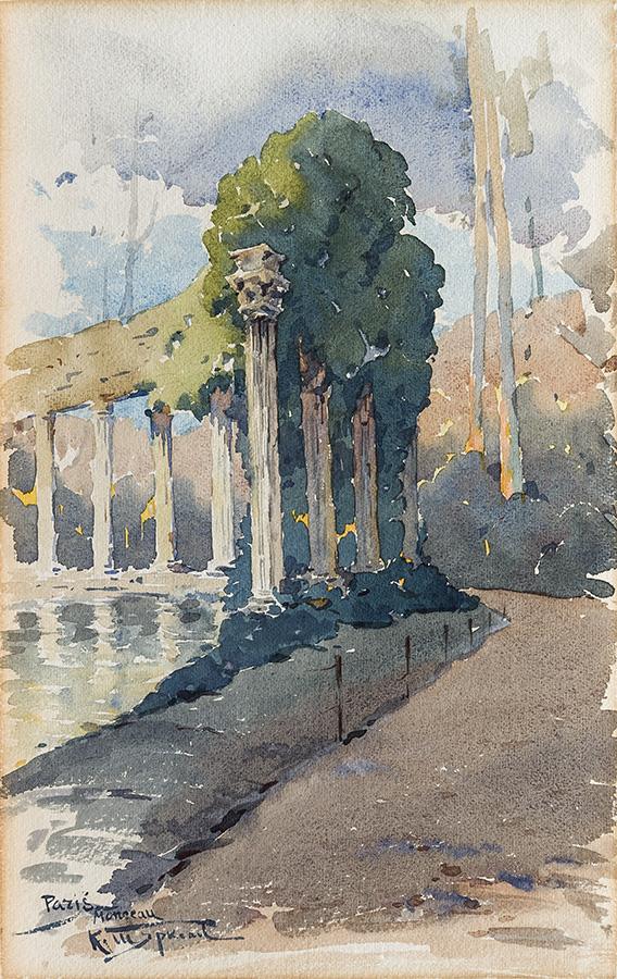paris watercolour by K. Shtarkelov