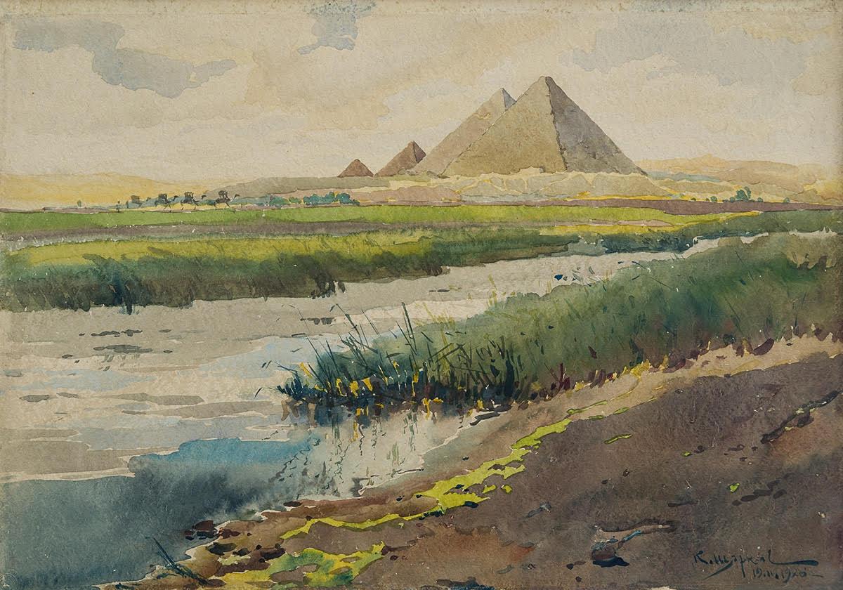 shtarkelov watercolour piramidi